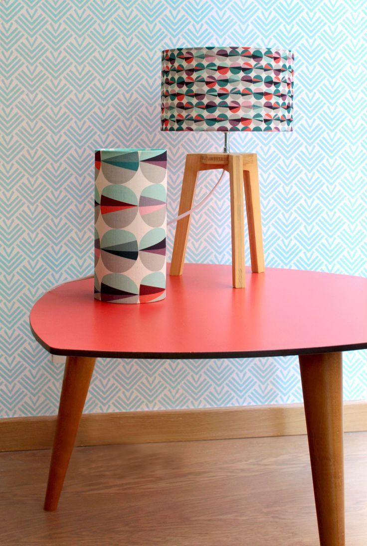 maison couleur, color home, table basse rouge, table basse vintage, mademoiselle dimanche, carnet d'intérieur