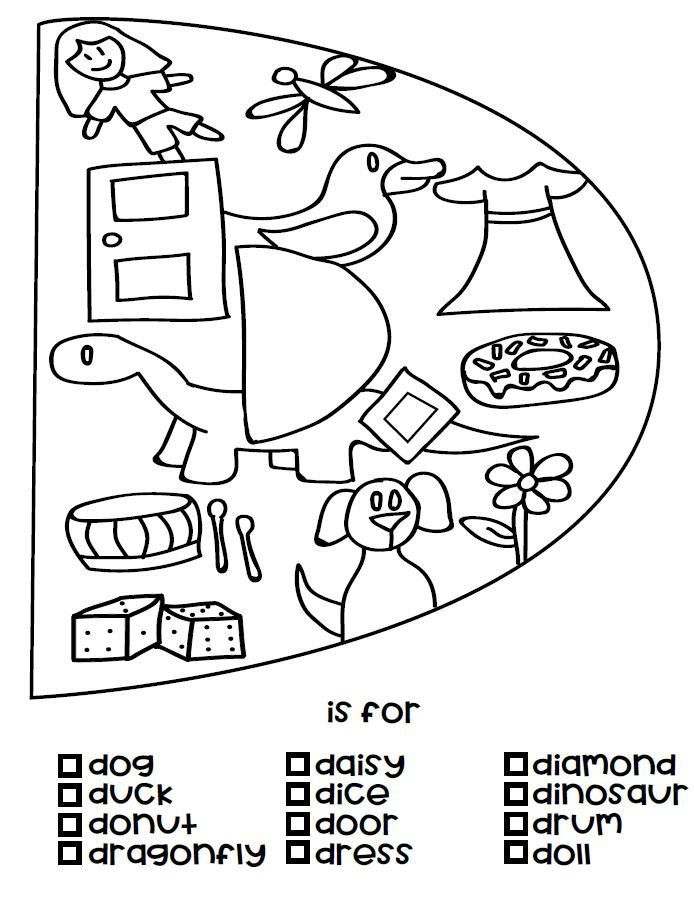 D Is For Coloring Page Available As A Free Download As Well As A B And C Whole Set Coming Soon A F Alphabet Coloring Pages Alphabet Coloring Alphabet Unit
