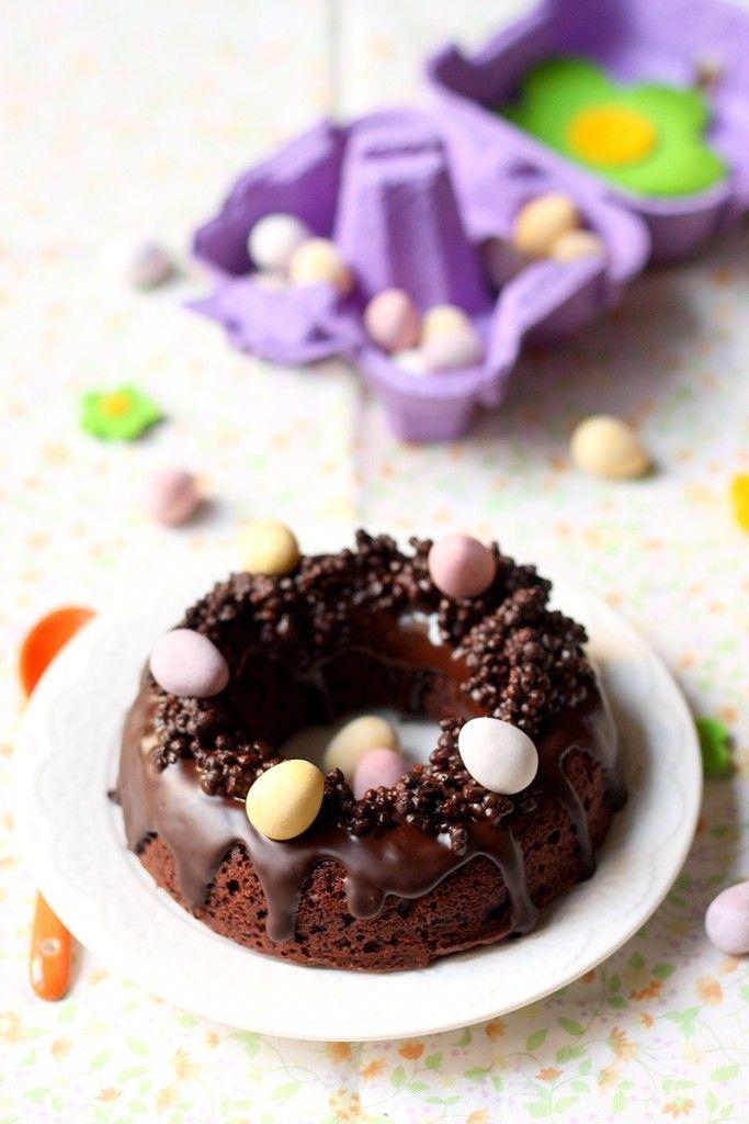 Nid de Paques Moelleux au chocolat