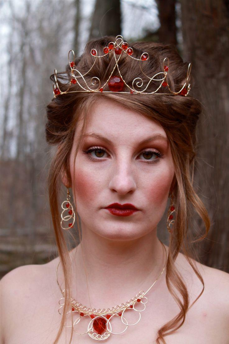 Red Queen Tiara Queen of Hearts Crown Evil Queen Ruby