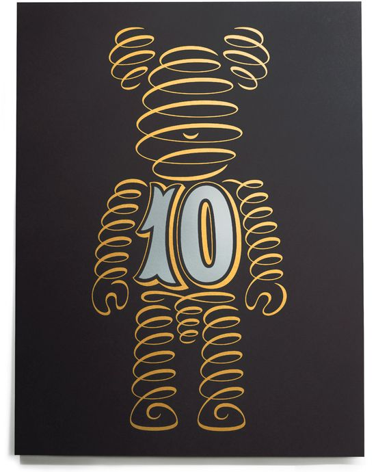 10th anniversary BE@RBRICK logo by House Industries.