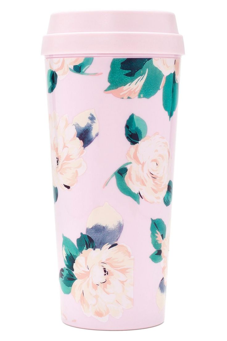 """Lady of Leisure Thermal Travel Mug by BAN.DO Details A stylish insulated travel mug brings the flower power while keeping your favorite beverage the perfect temperature. - Color: Multi - 8""""H x 3""""D - Holds 16 oz - Imported Materials Acrylic $14 (on sale for $9.97)"""