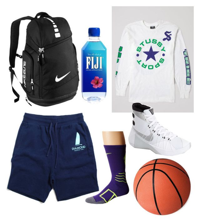"""""""basketball outfits for girls #athletic"""" by aliya-ramon on Polyvore featuring Stussy and NIKE"""