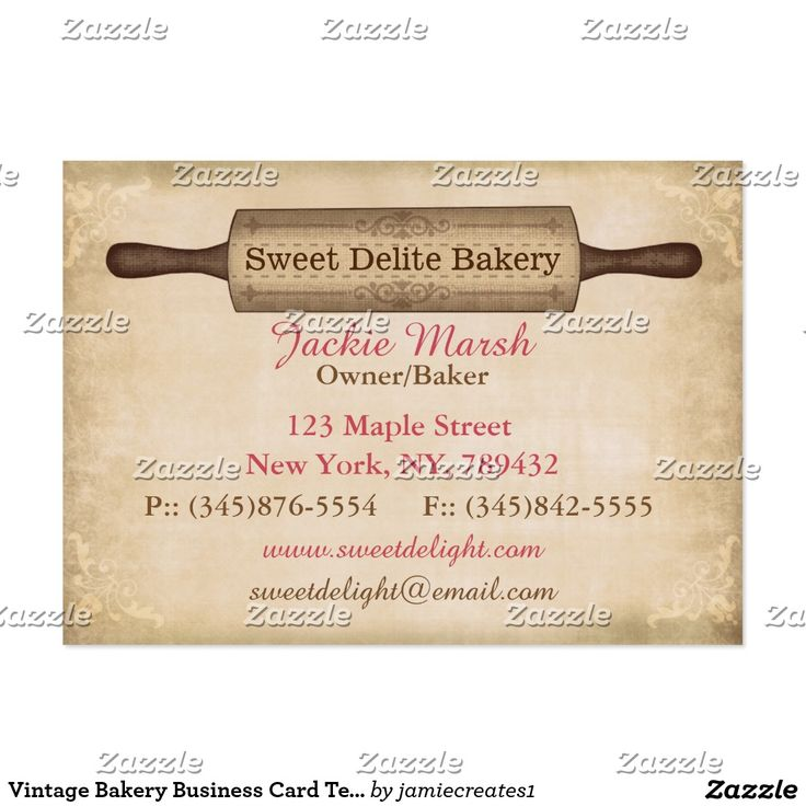 Create your own Profile Card Zazzle.co.uk Bakery