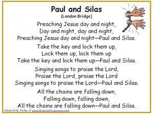 Paul and Silas Christian Nursery Rhyme