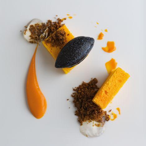 Carrot Cake With Black Olive Sorbet