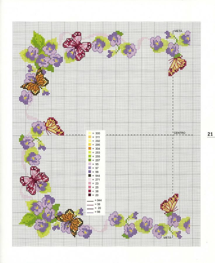 Fiori viola e farfalle - Tovaglia