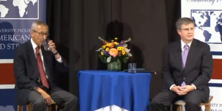 John Podesta FREAKS OUT Over Pizzagate Question At Duke University [VIDEO]