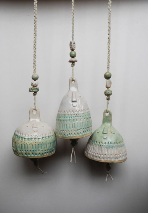 Super cute set of bells for York Museum - part of a project to get kids into music through ceramics. Hope they don't break them!!Atelier Stella