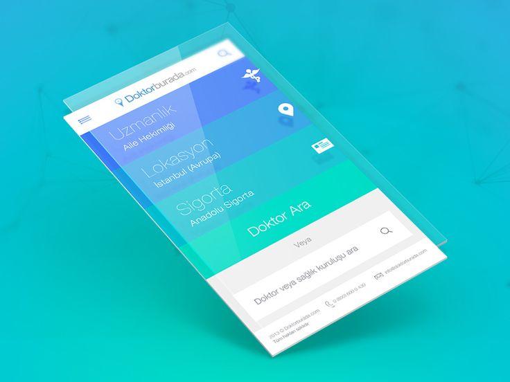 Dribbble - █ Doktor Burada Mobile App by HI-JK / Gorkem Menekse