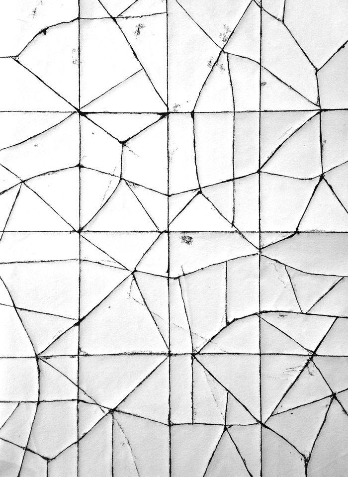 cracked + white + black + linear
