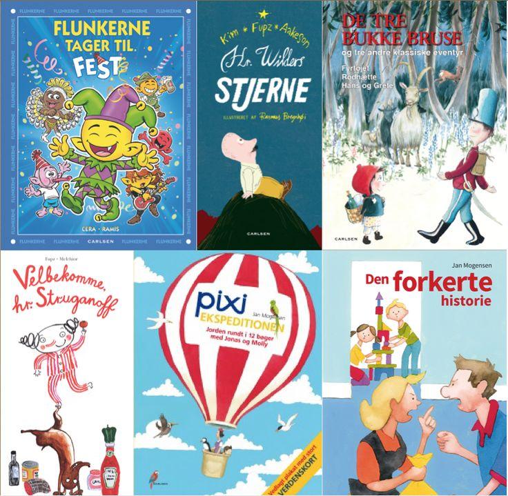På bloggen anbefaler vi gode bøger til godnatlæsning for de 3-6-årige. Her er både Flunker, Fupz, Pixi og Bukkebruse.