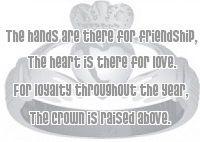 De Claddagh ring, de mooie trouwring uit Ierland, hij staat voor liefde, vriendschap en loyaliteit, de ring zegt dat de liefde alles overwint