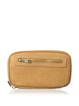 50% OFF co-lab by Christopher Kon Women's Pebbled Zip-Around Wallet, Natural
