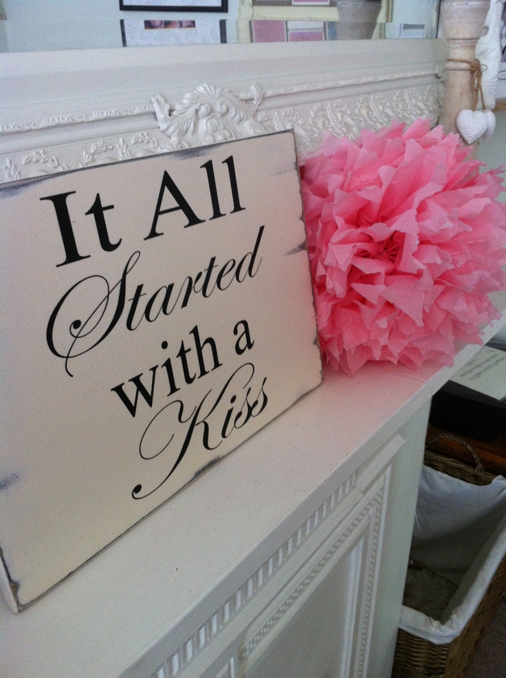 Shabby wedding sign chic gift anniversary by MaddysVintageSigns, $18.19