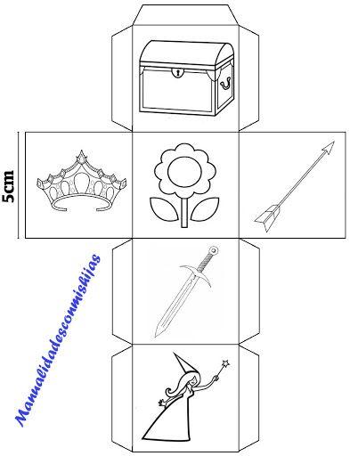 Story cubes caseros modificados para 4 años - cubo 1 de 4
