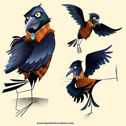 2 Crows Cartoon Characters : Best crow illustration images on pinterest ali