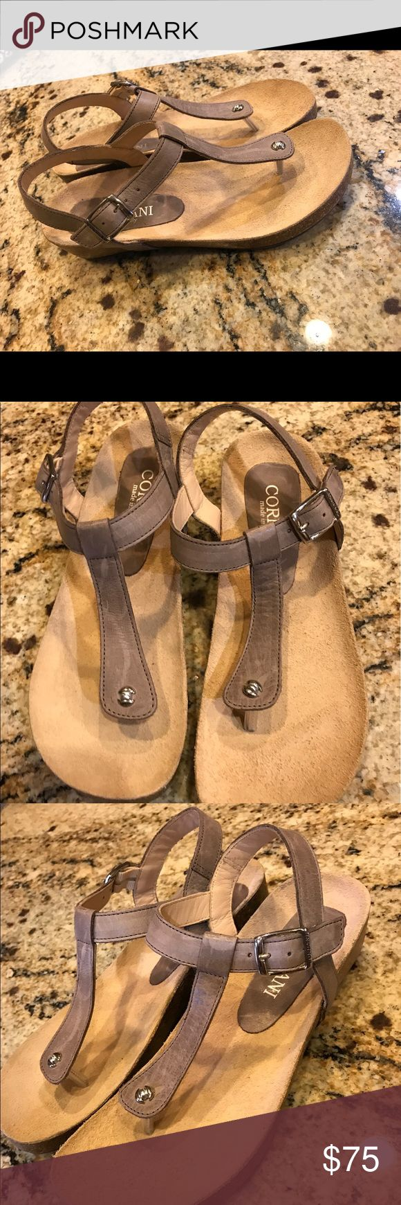 """cordani gene sandal Brand new with out box .slim strap top an understated sandal fitted with a comfortable contoured cork footbed and polished with silver tone handware..wedge heel approx 2""""heel,0.5""""plataform made in Italy 🇮🇹 cordani Shoes Sandals"""