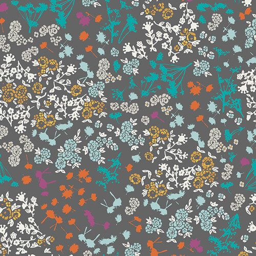 Floret Stains Mulberry by Katarina Roccella for Art Gallery Fabric Indelible Floral Fabric Charcoal Gray Floral Fabric Tiny Floral Modern by Owlanddrum on Etsy https://www.etsy.com/listing/474764916/floret-stains-mulberry-by-katarina