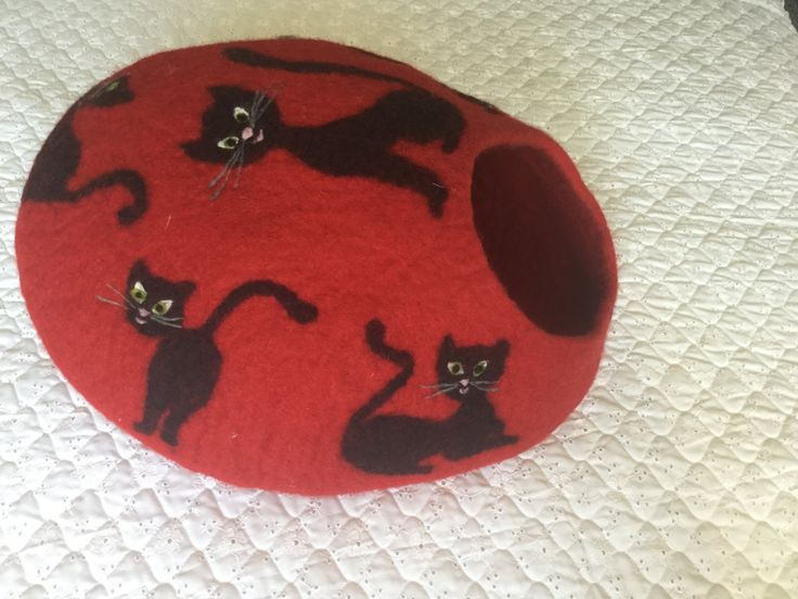 Felted cave by IvikaDesigns on Etsy