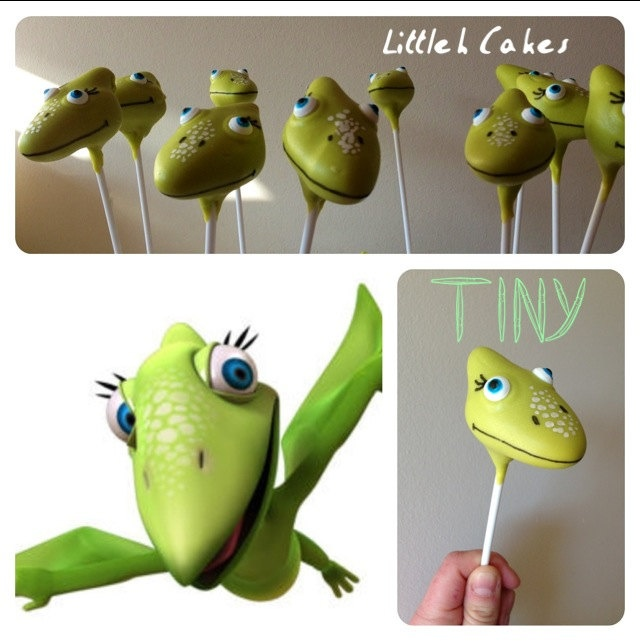 Dinosaur Train Cake Pops. £1.50, via Etsy; I wonder if they make other kinds of pops?!
