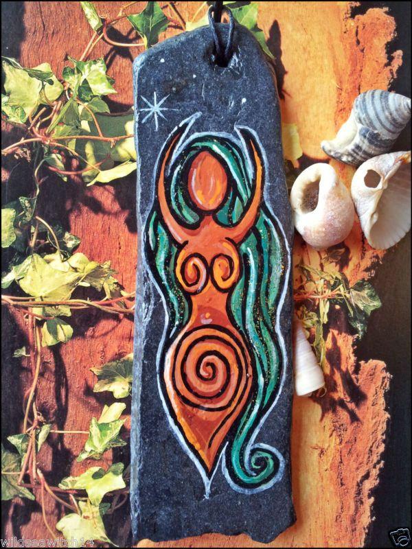 SEA STONE WALL HANGING Charm SPIRAL GODDESS Talisman, Amulet WICCA PAGAN Witch | eBay