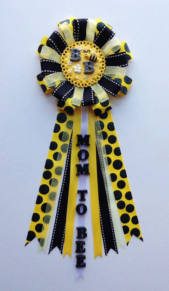 Bumble Bee Baby Shower Corsage Cold Porcelain by LezlieZDesigns, $20.00