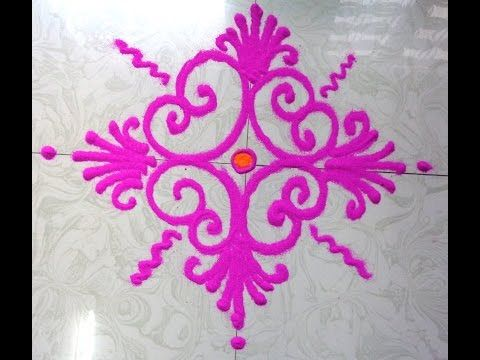simple & easy rangoli draw - K81 - YouTube