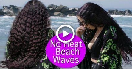 Easy Beach Waves No Heat ! Heatless Beach Waves  Everyday Hair Tutorial #hairst