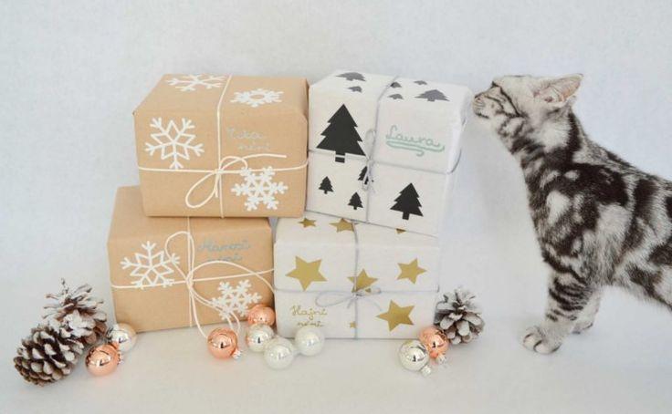 Egyszerű és nagyszerű csomagolási ötletek karácsonyra