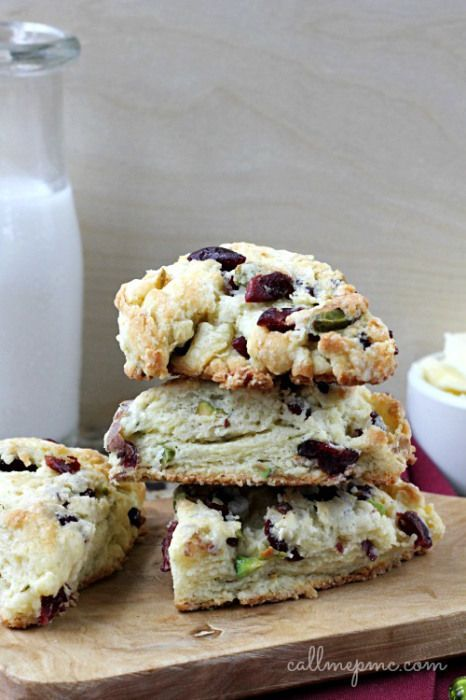 Dried Cherry Pistachio Scones - Call Me PMc