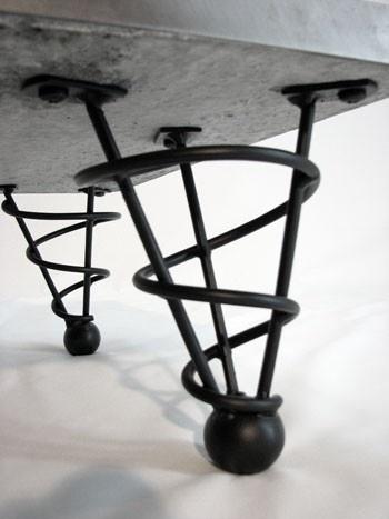 Metal spiral cone furniture legs