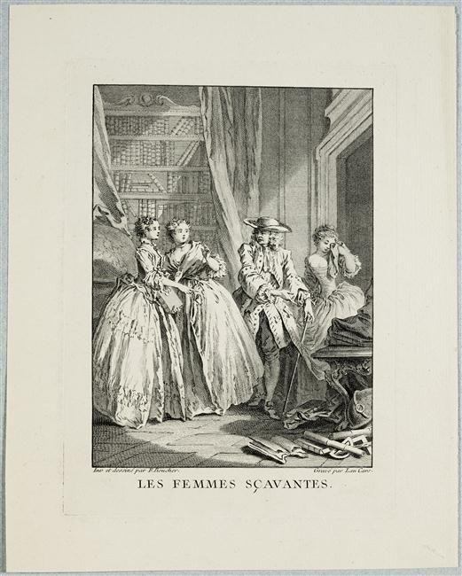 Laurent Cars, d'après François Boucher | Les femmes savantes