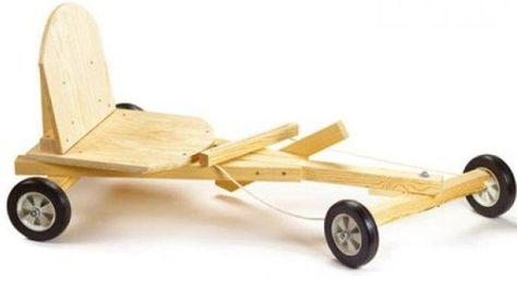 Basis model voor een zeepkist auto.
