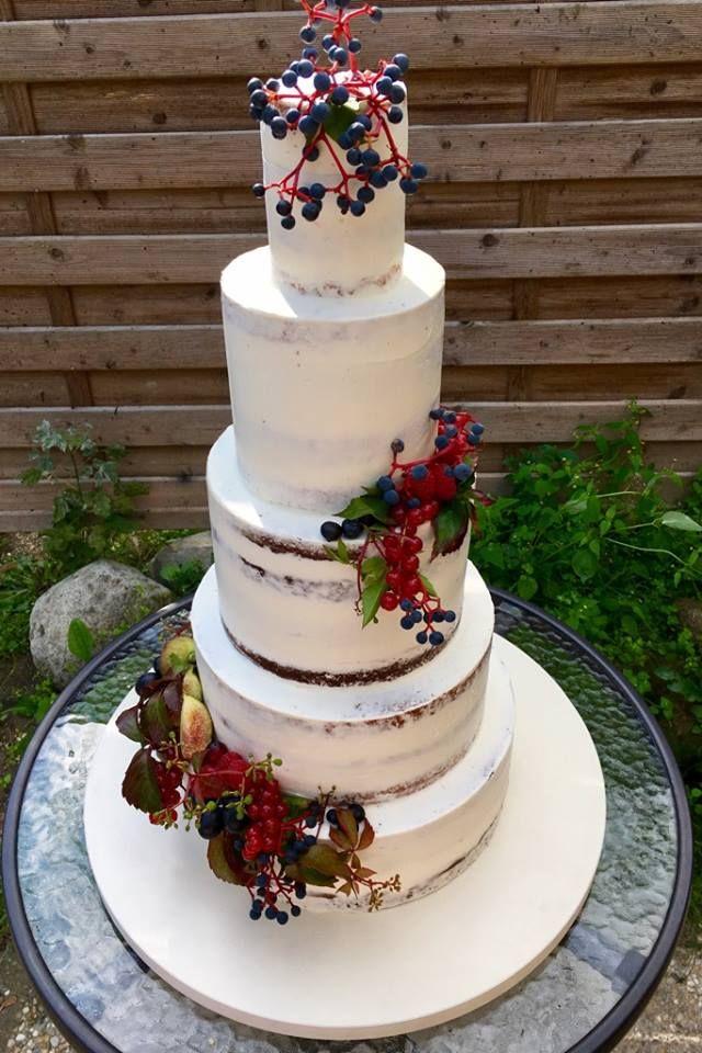 wedding cake by Marangona   nude cake with flower   www.marangona.hu