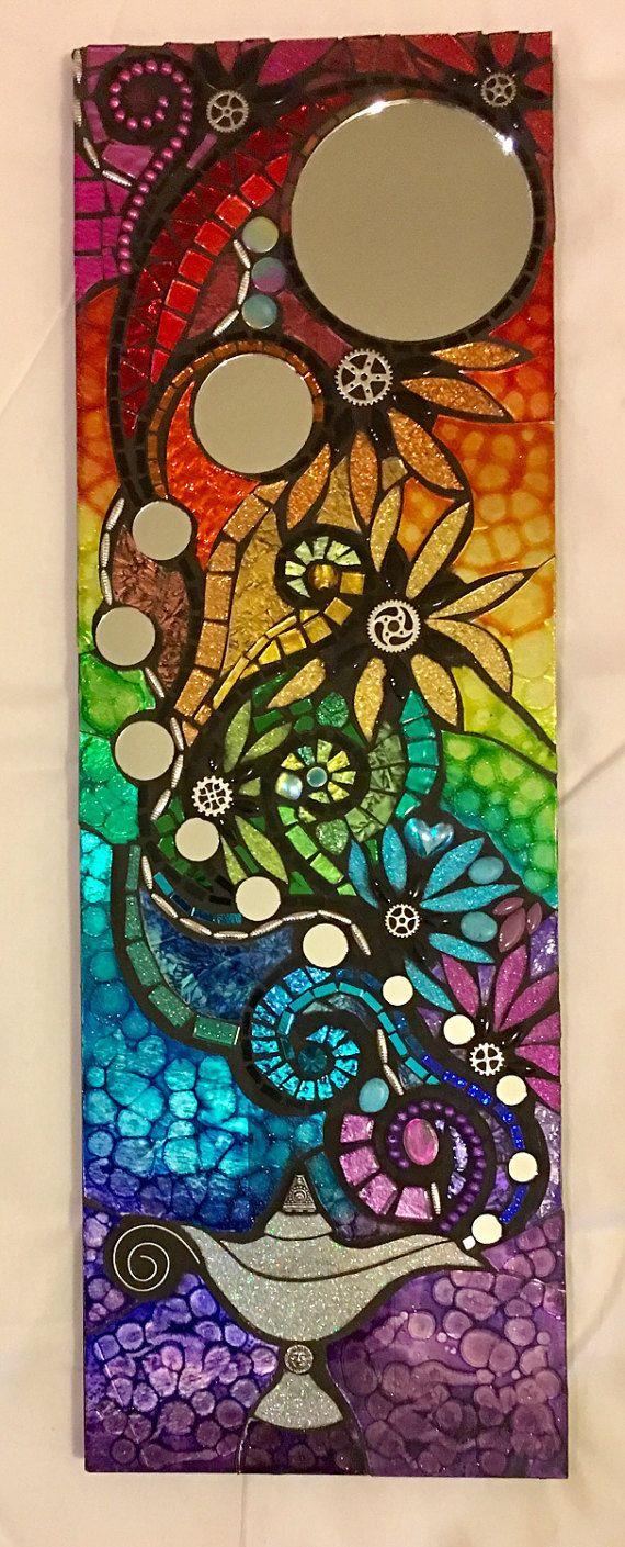 Die 25 besten ideen zu mosaikspiegel auf pinterest lila spiegel mosaikkunst und - Spiegel mosaik deko ...