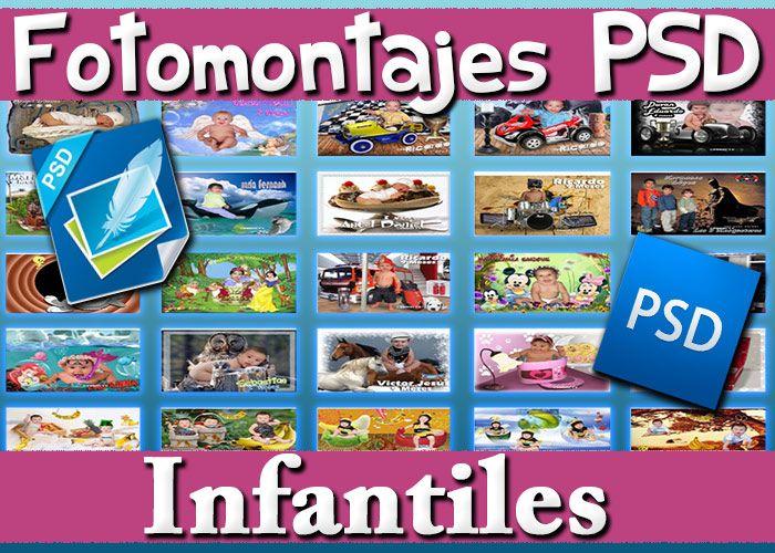 Súper+Pack+500+Fotomontajes+PSD+Plantillas+Infantiles++Marcos