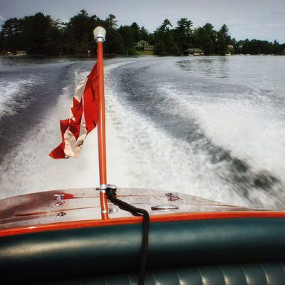 """Thank you to the nice gentleman who took me out for a ride in his fantastic """"woody"""".  What a great way to see the lake on Canada day."""