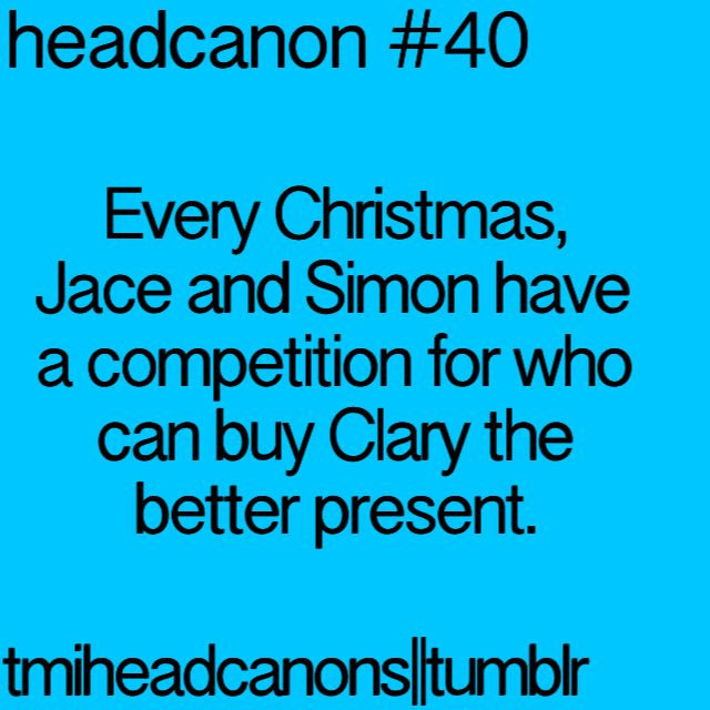 Image result for shadowhunters christmas headcanon