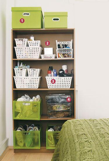 Dicas de como organizar guarda roupas arm rios e estantes - Estantes para armarios empotrados ...