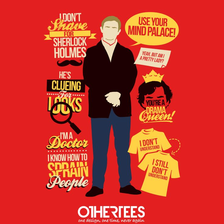 """Clueing for Looks"" by TomTrager Shirt on sale until 13 June on othertees.com Pin it for a chance at a FREE TEE! #sherlock #sherlockholmes #watson #johnwatson"