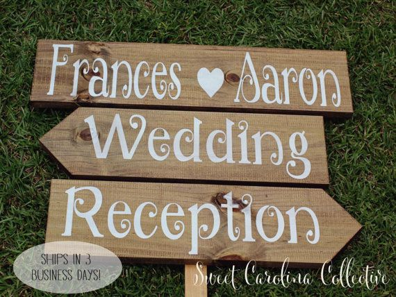 Rustic Wedding Signage, Wooden Wedding Signs, Ceremony