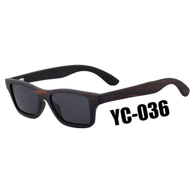Yc 036 Dark Brown Ebony Wood Natural Wooden Sunglasses Fashion 2018 Professional Wooden Eyewear Supplier Wooden Eyewear Wooden Sunglasses Fashion Sunglasses