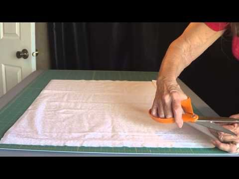 Embroidered Pillow Case - This is a really good tutorial, and even though it is for machine embroidery it applies. Be careful to watch how she lays out the embroidery when she sews it altogether. #sewing #embroidery