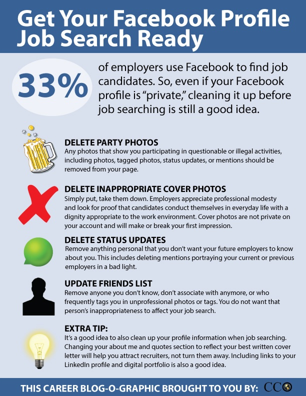 Get your #Facebook profile job search ready #jobsearch