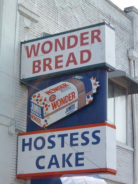 Wonder Bread- There was a Wonder Bread factory a few blocks away from where I lived.