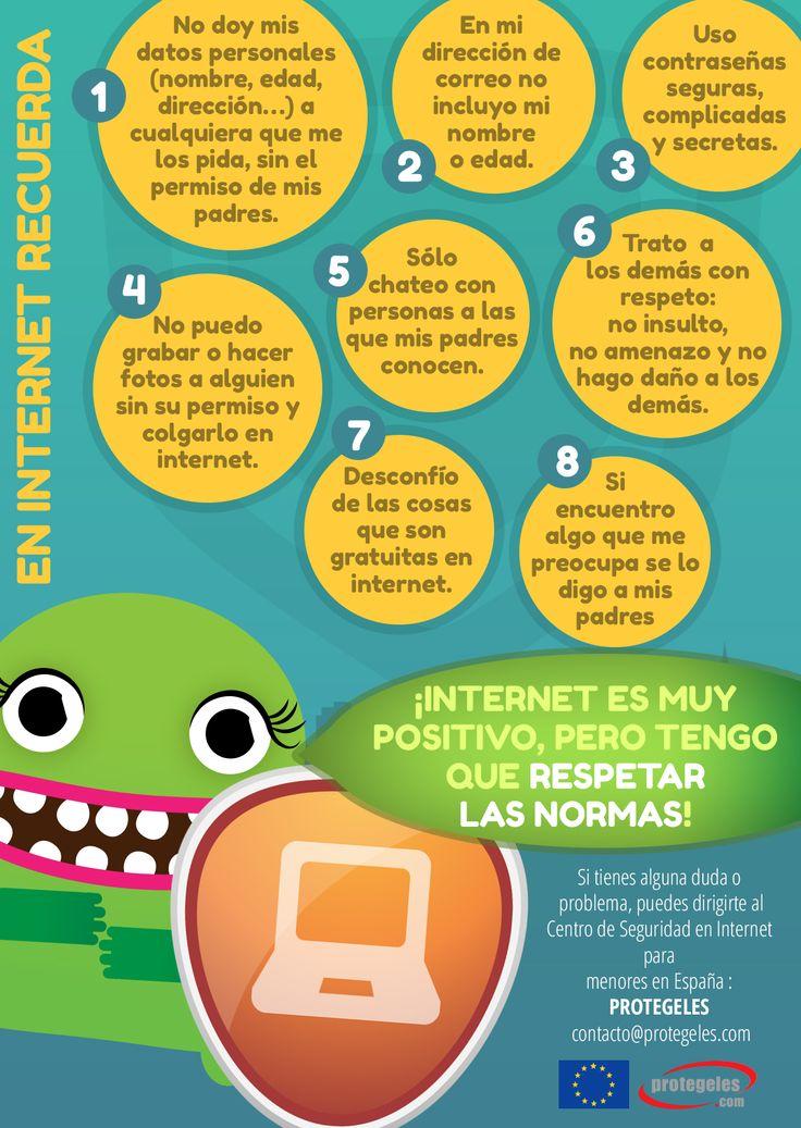 #Consejos de #seguridad en #Internet para los más peques de la casa. Más información en http://ciberfamilias.com