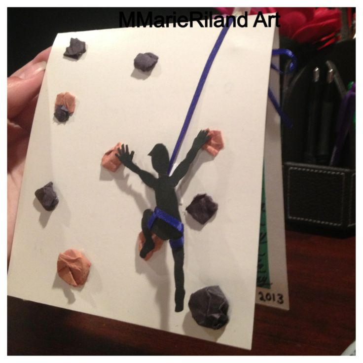 3D Rock climbing card I made!