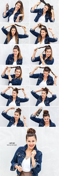 Twisted Top Knot -