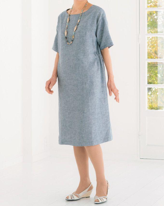 簡単に作れる 夏に着たいシンプルなワンピースの作り方 ファッション ぬくもり ファッション ワンピース 服 夏 シンプル リネン ゴム 手作り 作り方 ハンドメイド 手芸 Nukumore ファッション ワンピース作り方 ワンピース 型紙 無料